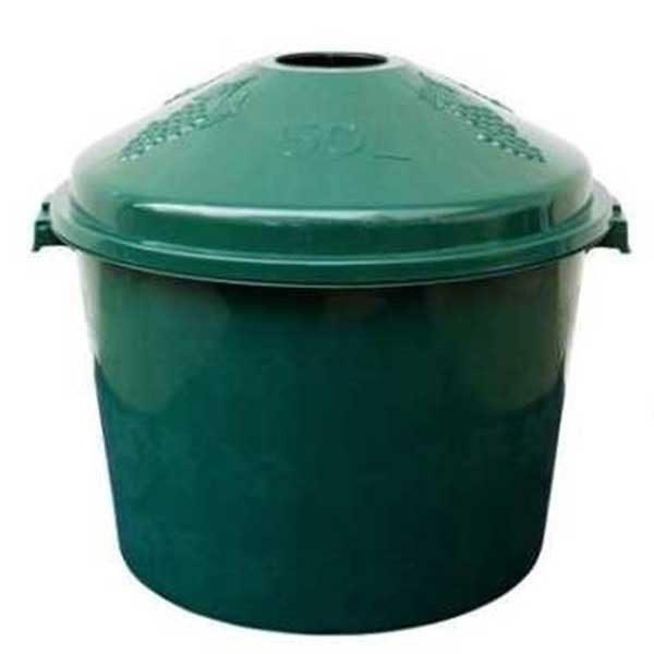 Pachet 4 bucati - Cos damigeana, 50 litri, Din plastic verde