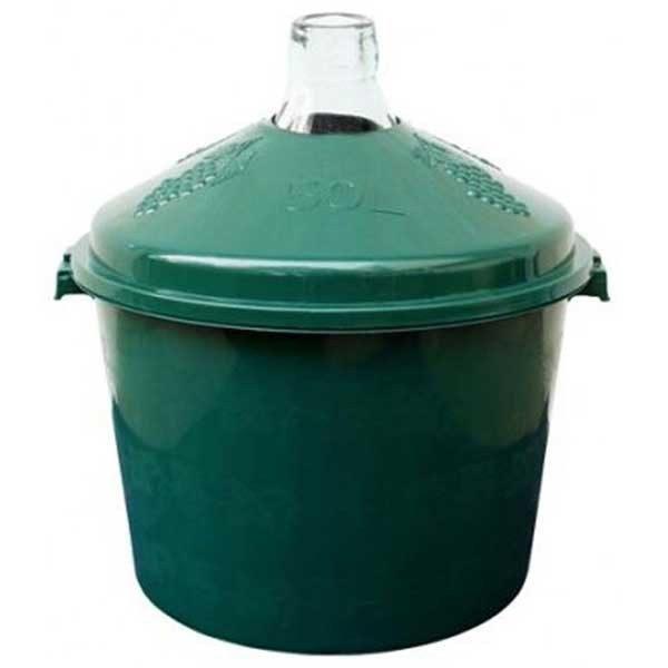 Damigeana 50 litri in cos din plastic verde 1