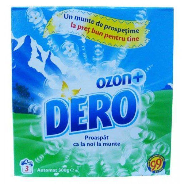 Pachet 12 bucati - Dero Ozon+ Automat, Detergent pentru rufe la cutie, Proaspat ca la munte, 12 x 300 g