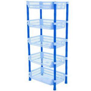 Etajera cu 5 etaje, Raft Legume-Fructe, Albastru