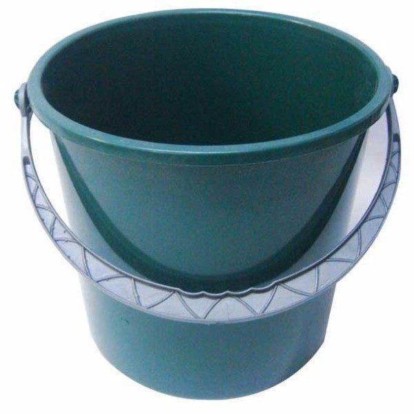 Pachet 12 bucati - Galeata plastic, Verde inchis, 5L