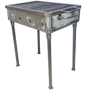 Gratar din metal, 62cm x 52cm x 37.5cm