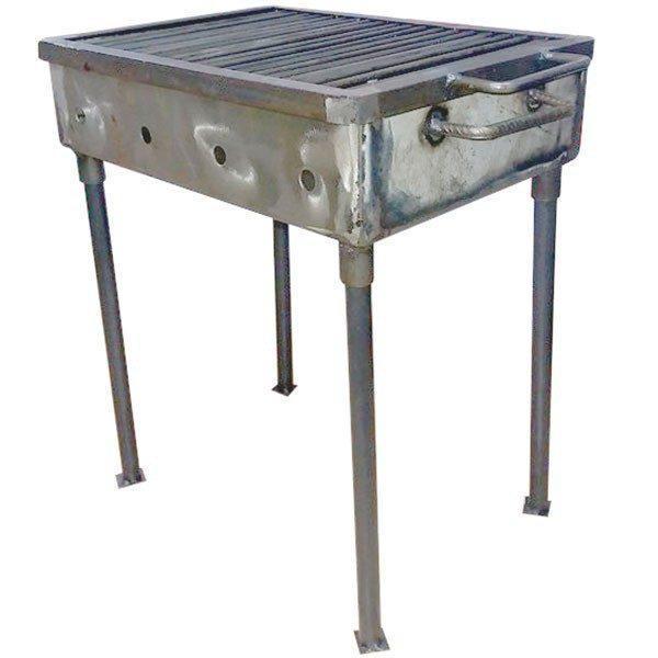 Gratar gradina / camping, portabil din metal, 50 x 35 cm