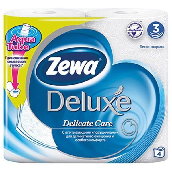 Zewa deluxe delicate care 4 role
