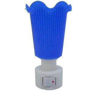 Lampa de veghe, albastru, cu intrerupator, lumina calda