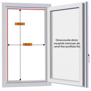 Plasa insecte pentru usa, cu profil din aluminiu pe culoarea alb, maro sau gri, Plase insecte cu toate accesoriile incluse, gata de montaj