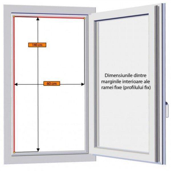 Plasa insecte pentru usa, cu profil din aluminiu pe culoarea alb, maro sau gri, Plase insecte cu toate accesoriile incluse, gata de montaj 1