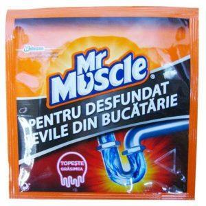 Granule pentru desfundat tevile, Mr Muscle, 50g