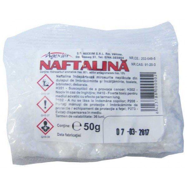 Pachet - 20 x Naftalina cristale / praf 50 g + 2 x Aroxol spray anti-molii si anti-acarieni lavanda 250 ml