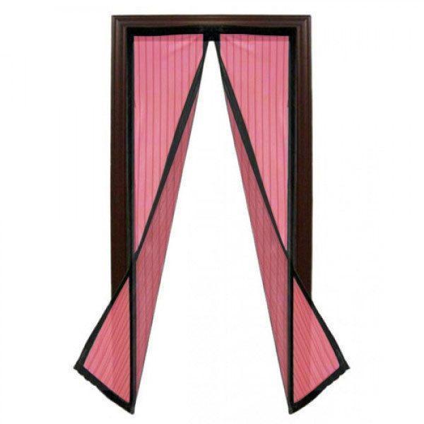 Plasa insecte, inchidere magnetica, roz, 190cm x 100cm 1