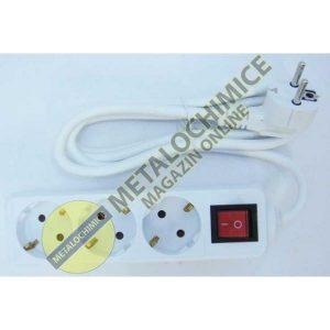 Prelungitor cu 3 prize si intrerupator cu cablu de 1.5m