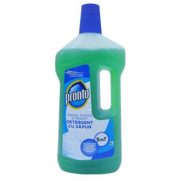 Pachet - Pronto Classic, Spray pentru curatat mobila, 3 x 400ml + 6 x Laveta MicroFibre, universala 30 x 30cm + Pronto Lemn, 750ml + Pronto pentru gresie, piatra si granit, 750ml