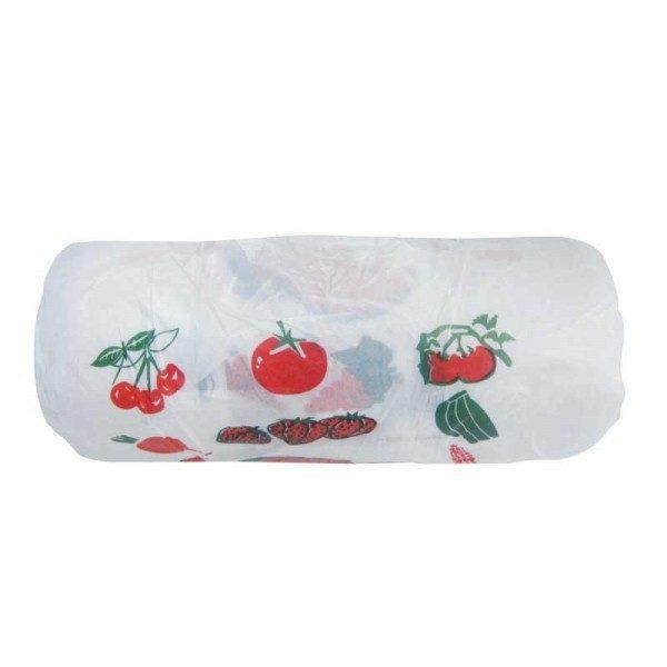 Pachet 3 role, Pungi albe cu fructe si manere, 125 buc/rola