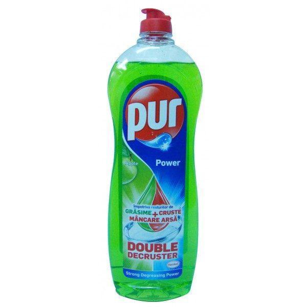 Pachet 12 bucati - Pur, Detergent de vase, Mar verde, 900 ml
