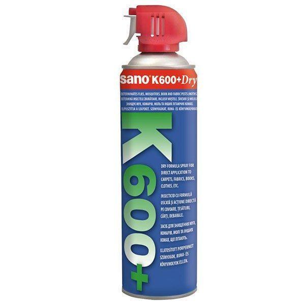 Pachet 3 bucati - Sano K600+, Spray insecticid universal, otrava gandaci, plosnite, purici, muste, tantari, molii, omizi, greieri, viespi ( echivalent Regent ) 3 x500ml