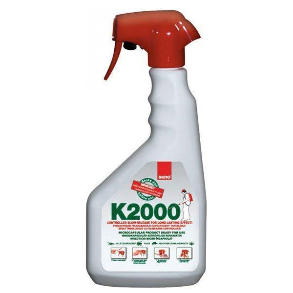 Pachet - Sano K300+ , insecticid spray universal, otrava gandaci, plosnite, purici, muste, tantari, molii, omizi, greieri ( echivalent Regent ) 3 x 400ml + Sano k2000, Insecticid inodor, 750ml  din categoria Spray-uri Insecte