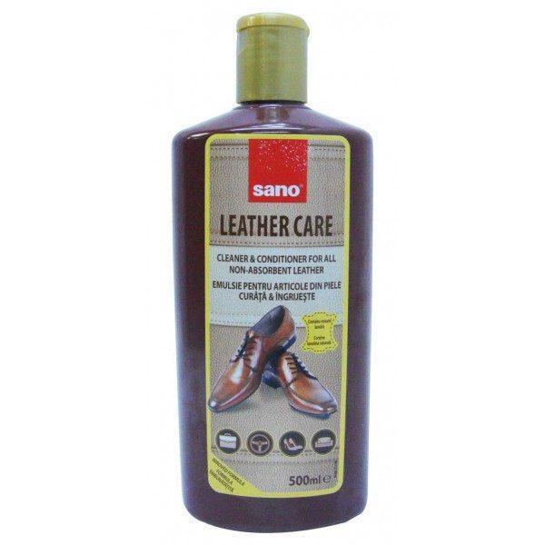Pachet 3 bucati - Sano Leather Care, emulsie crema pentru curatat/ingrijit piele, 3 x 500ml