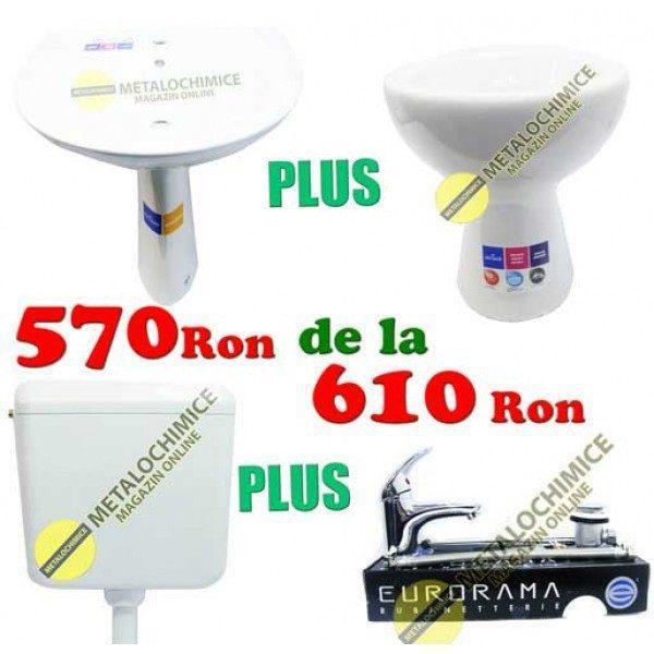 Set ceramica baie, Lavoar, Picior, Vas wc, Bazin wc, Chiuveta baterie
