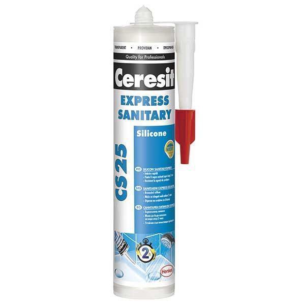 Silicon sanitar transparent Ceresit CS25 280 ml