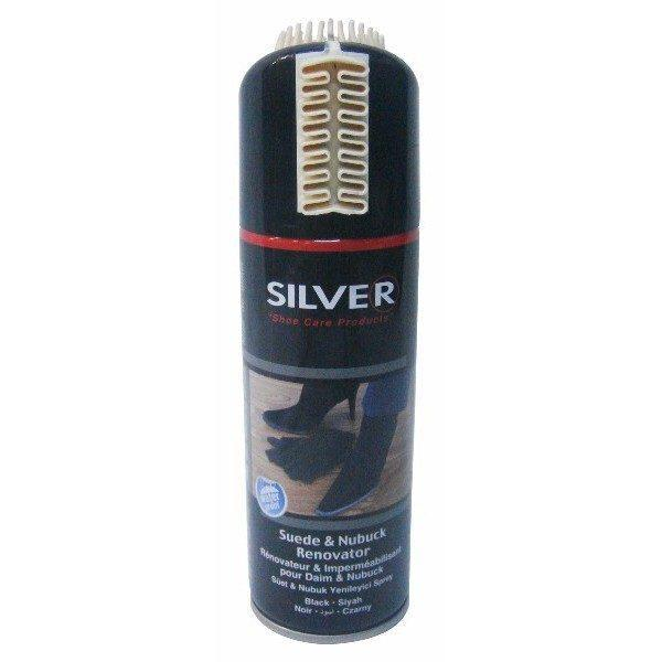 Vopsea spray, piele intoarsa, perie silicon, negru, 200ml