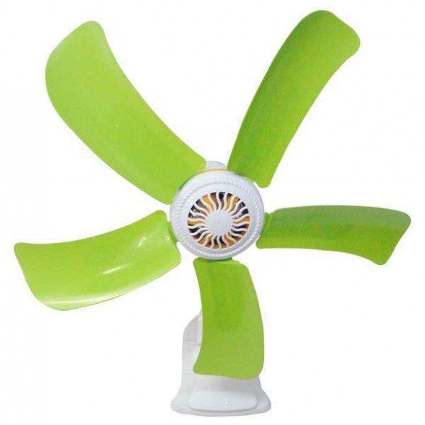 Ventilator de birou 220 V, Alb-verde