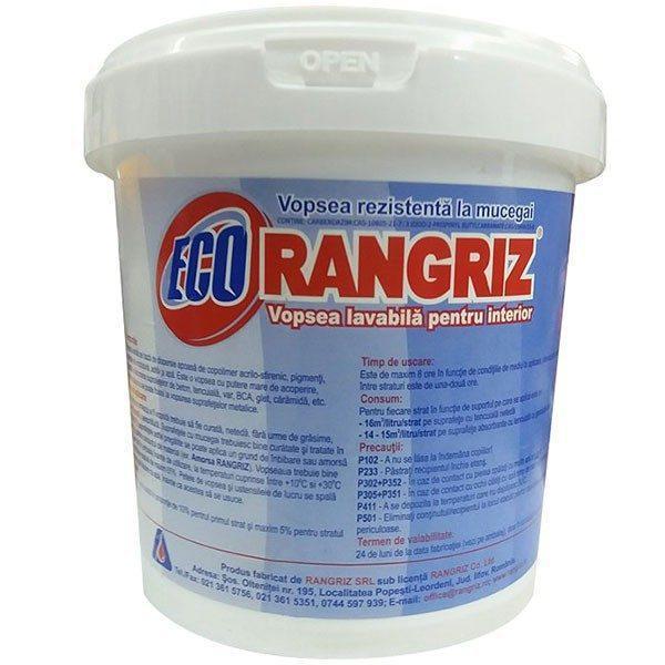 Vopsea lavabila, ECO Rangriz, anti-mucegai, interior, 1L 1