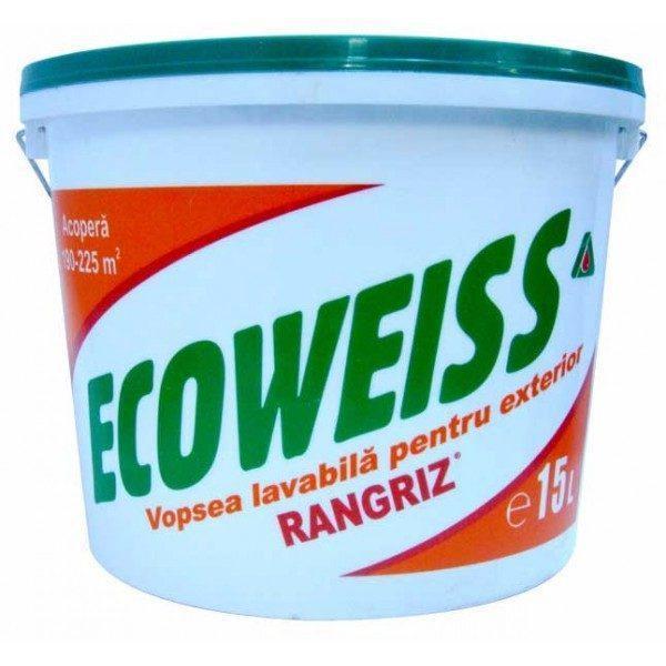 Vopsea lavabila Ecoweiss de exterior 1