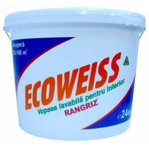 Vopsea lavabila Ecoweiss de interior