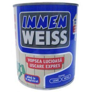 Vopsea ALBA lucioasa pentru lemn si metal Innenweiss 0.75l