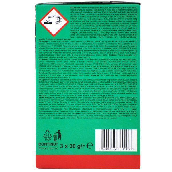 Pachet 10 cutii - Aktiv Clean, Odorizant WC block cu parfum de Pin, Pentru agatat in vasul de toaleta, 30buc, 3x 30g/cutie