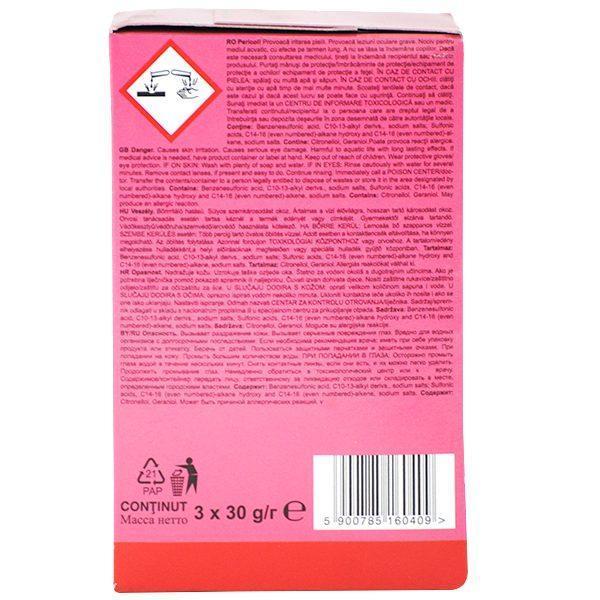 Pachet 10 cutii - Aktiv Clean, Odorizant WC block cu parfum Floral, Pentru agatat in vasul de toaleta, 30buc, 3x 30g/cutie