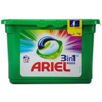 ariel 3 in 1 capsule detergent pentru rufe color 405 g