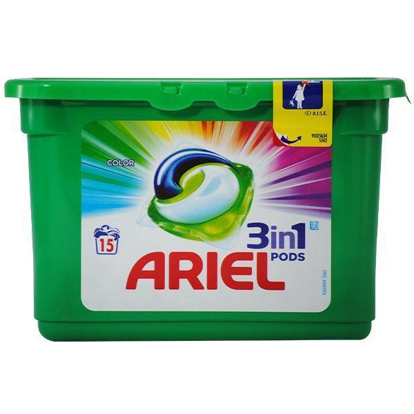 Ariel 3 in 1 Capsule, Detergent pentru rufe, Color, 405 g