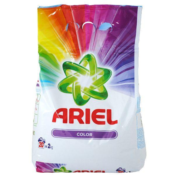 Pachet - 3 x Ariel Color, Detergent automat, Pudra cu parfum proaspat floral, 3 x 2kg + Balsam Lenor Moonlight Harmony 1L + Balsam Lenor Spring Awakening 1L + Balsam Lenor Floral Romance 1L