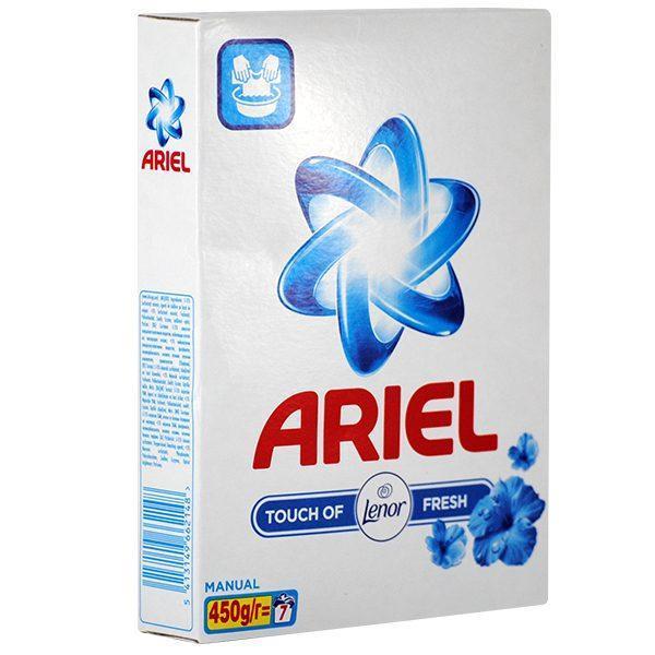 Ariel touch of Lenor fresh, Detergent manual la cutie, 7 spalari, 450 g