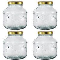 Borcan sticla 3 L cu capac - BAX 4 buc  din categoria Borcane, peturi si sticle