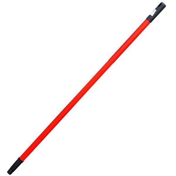 coada telescopica extensibila pentru mop matura din metal cu filet rosie 86cm