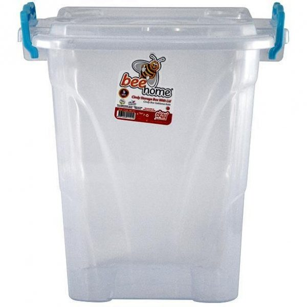 Cutie 5L inalta patrata cu capac, Pentru depozitare alimente, Plastic alimentar, 19.3(L) x 19.3(l) x 22.3(In) cm