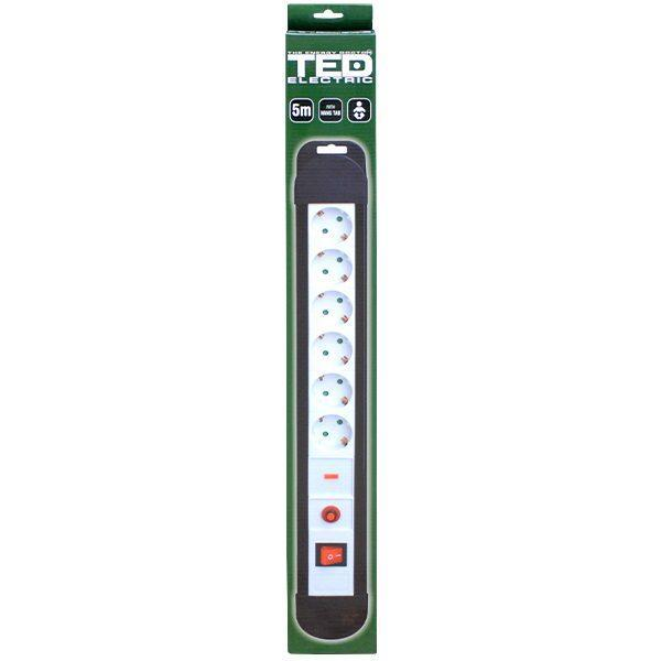prelungitor 6 intrari 5 metri schuko cu siguranta automata spd si protectie supratensiune 2
