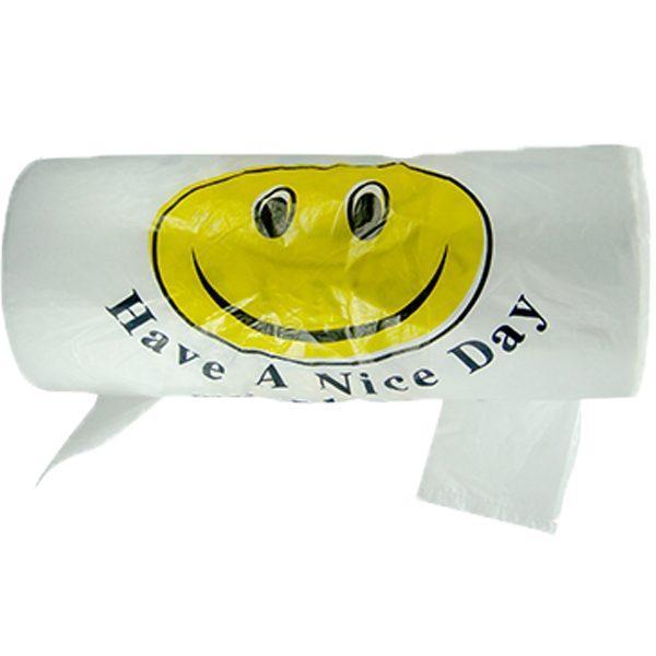 Pungi biodegradabile Smiley Face