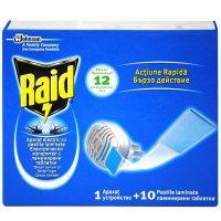 Raid Aparat electric pentru tantari cu 10 pastile laminate  din categoria Aparate impotriva insectelor