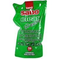 sano clear green rezerva solutie pentru curatat geamuri 750ml