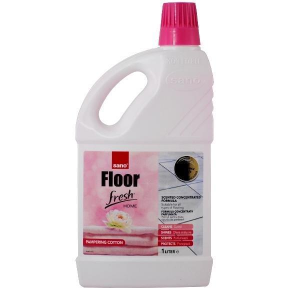 Pachet 6 bucati - Sano Floor Fresh Home 1L, Detergent lichid pentru pardoseli cu proprietatea de curatare, 6 x 1000ml