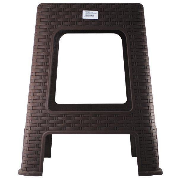 scaun din plastic model ratan pentru gradina casa maro 2
