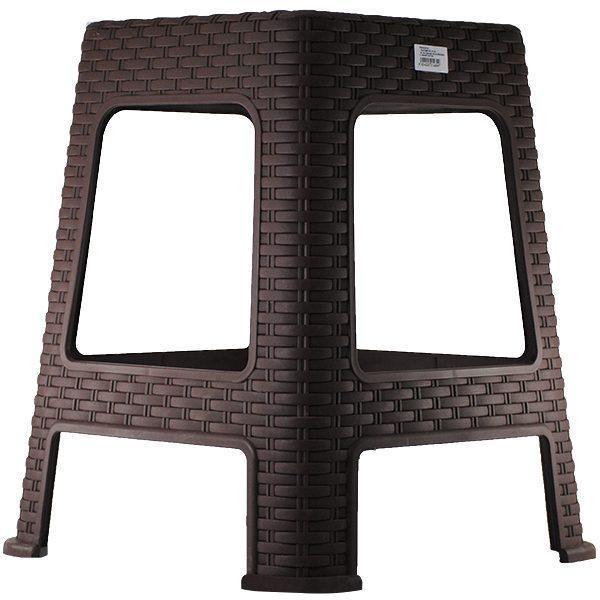 scaun din plastic model ratan pentru gradina casa maro