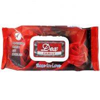 servetele umede dex family rose in love 72buc