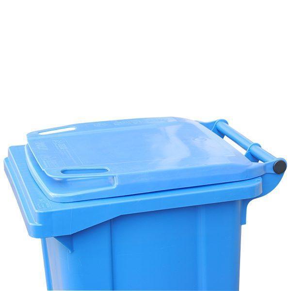 tomberon cu roti pentru gunoi reciclare selectiva pubela albastra 120l 3
