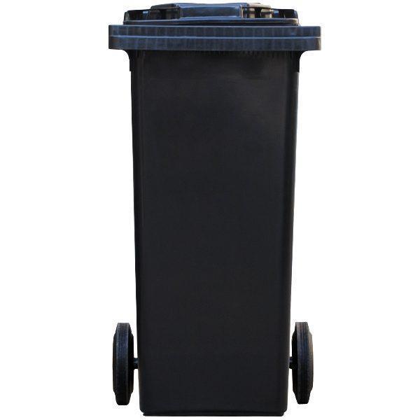 tomberon cu roti pentru gunoi reciclare selectiva pubela neagra 120l