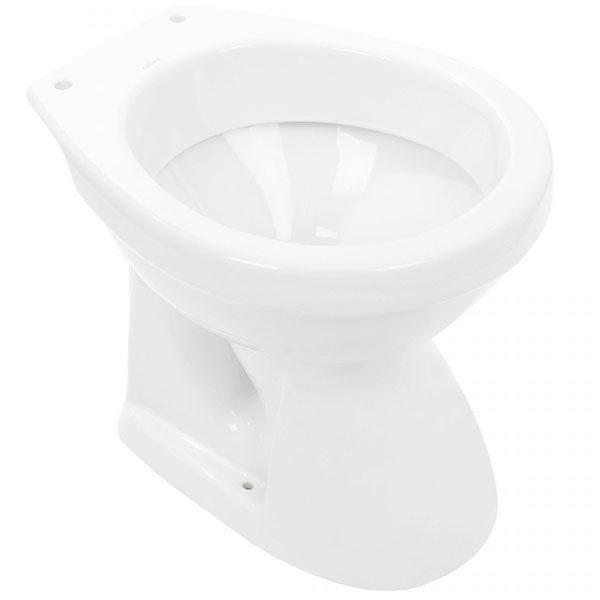 Vas WC cu iesire laterala, ceramic, alb