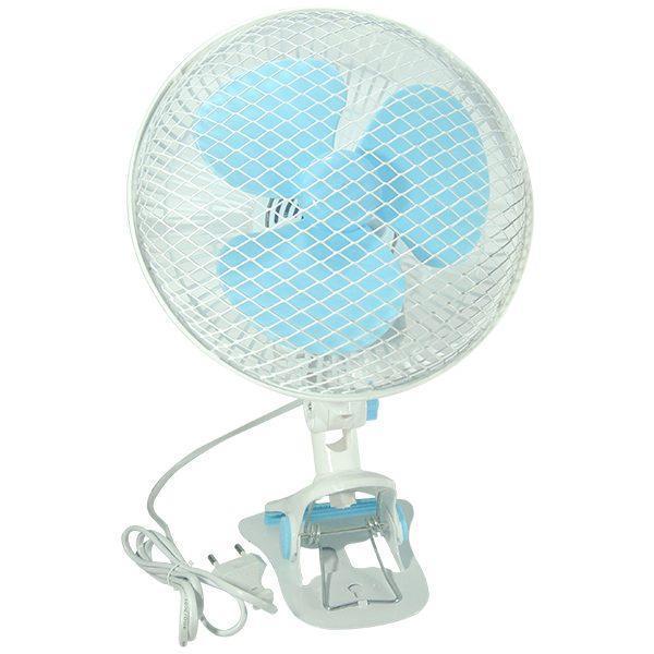 Ventilator de birou 220 V, Alb-Turcoaz